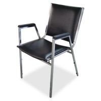 Lorell Plastic Arm Stacking Chairs - 4/CT (62504)