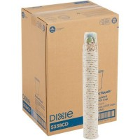 Dixie PerfecTouch Insulated Paper Hot Coffee Cups by GP Pro (5338CDCT)