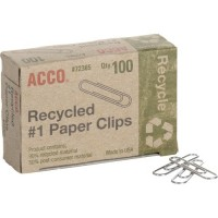 ACCO Recycled Paper Clips (72365PK)