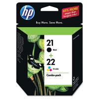 HP 21, HP 22 (C9509FN) Black,Tri-Color Ink Cartridge