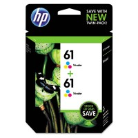 HP 61, (CZ074FN) 2-pack Tri-color Original Ink Cartridges