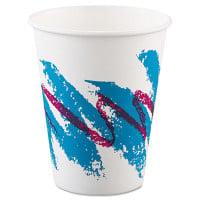 Dart Jazz Paper Hot Cups, 8oz, Polycoated, 50/Bag, 20 Bags/Carton (378JZJ)