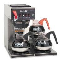 BUNN CWTF-3 Three Burner Automatic Coffee Brewer, Stainless Steel, Black (CWTF153LP)