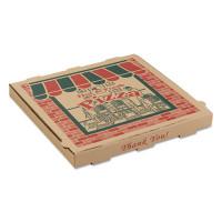 Arvco Corrugated Pizza Boxes, 14 x 14 x 1 3/4, Kraft, 50/Carton (9144314)
