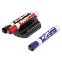 EXPO Magnetic Clip Eraser, Broad Chisel Tip, Assorted Colors, 3/Set (81503)