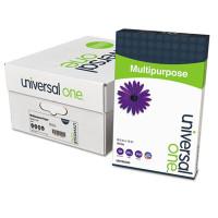 Universal One Deluxe Multipurpose Paper, 98 Bright, 20lb, 8.5 x 14, Bright White, 500 Sheets/Ream, 10 Reams/Carton (95400)