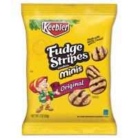 Keebler Mini Cookies, Fudge Stripes, 2 oz Snack Pack, 8/Box (21771)