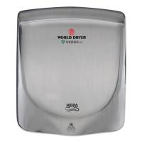 WORLD DRYER VERDEdri Hand Dryer, Stainless Steel, Brushed (Q973A)