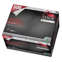 Medline Venom Steel Industrial Nitrile Gloves, Large, Black, 6 mil, 500 Gloves/Box (VEN6543N)