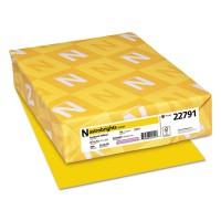 Astrobrights Color Cardstock, 65 lb, 8.5 x 11, Sunburst Yellow, 250/Pack (22791)