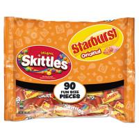Wrigley's Skittles/Starburst Fun Size, Variety, Individually Wrapped (34777)