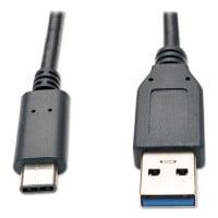 Tripp Lite USB 3.1 Gen 1 (5 Gbps) Cable, USB Type-C (USB-C) to USB Type-A (M/M), 3 ft. (U428003)