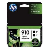 HP 910, (3JB40AN) Black Original Ink Cartridge 2-Pack