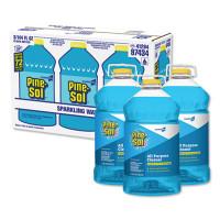 Pine-Sol All Purpose Cleaner, Sparkling Wave, 144 oz Bottle, 3/Carton (97434)