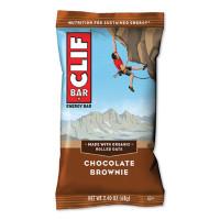 CLIF Bar Energy Bar, Chocolate Brownie, 2.4 oz Bar, 12 Bars/Box (2837279)