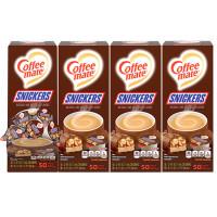 Coffee-mate Liquid Coffee Creamer, Snickers, 0.38 oz Mini Cups, 200 Cups/Carton (61425CT)
