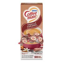 Coffee-mate Liquid Coffee Creamer, Vanilla Caramel, 0.38 oz Mini Cups, 50/Box (79129)
