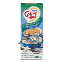 Coffee-mate Liquid Coffee Creamer, Sugar-Free French Vanilla, 0.38 oz Mini Cups, 50/Box (91757)