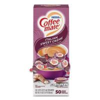 Coffee-mate Liquid Coffee Creamer, Italian Sweet Creme, 0.38 oz Mini Cups, 50/Box (84652)