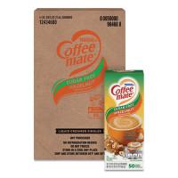 Coffee-mate Liquid Coffee Creamer, Sugar-Free Hazelnut, 0.38 oz Mini Cups, 50/Box, 4 Boxes/Carton (98468CT)