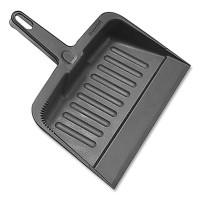 Impact Heavy-Duty Plastic Dust Pan, 12 x 12 x 4, Black (721698)