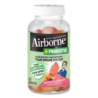 Airborne Immune Support Plus Probiotic Gummies, Assorted Fruit Flavors, 42/Bottle (97405)