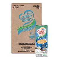 Coffee-mate Liquid Coffee Creamer, Sugar-Free French Vanilla, 0.38 oz Mini Cups, 50/Box, 4 Boxes/Carton, 200 Total/Carton (91757CT)