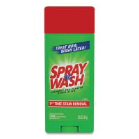 SPRAY n WASH Pre-Treat Stain Stick, White, 3 oz, 12 per Carton (81996CT)