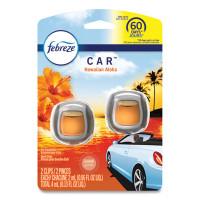 Febreze CAR Air Freshener, Hawaiian Aloha, 2 ml Clip, 2/Pack, 8 Packs/Carton (94734CT)