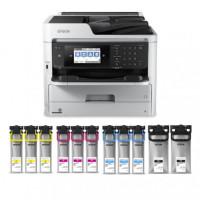 Epson WorkForce Pro WF-C5790 Color Inkjet MFP Large Bundle Printer (C11CG02201LB)