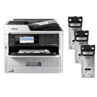 Epson WorkForce Pro WF-M5799 Mono Inkjet MFP Large Bundle Printer (C11CG04201LB)