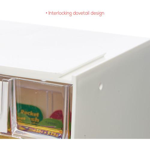 Deflecto Tilt Bin Interlocking Multi-Bin Storage Organizer (20603OP)