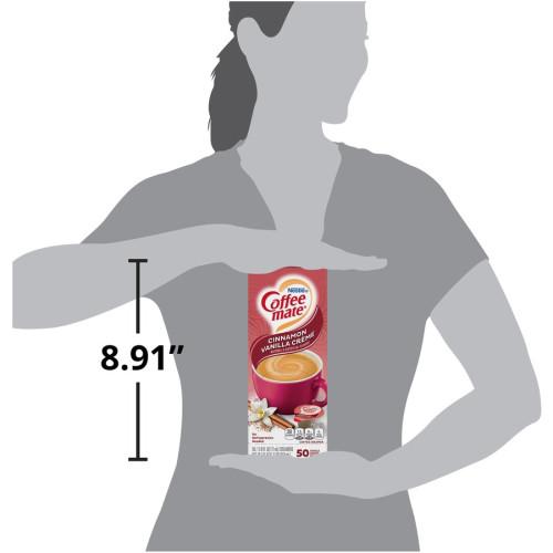 Coffee-mate Liquid Coffee Creamer, Cinnamon Vanilla, 0.38 oz Mini Cups, 50/Box (42498)