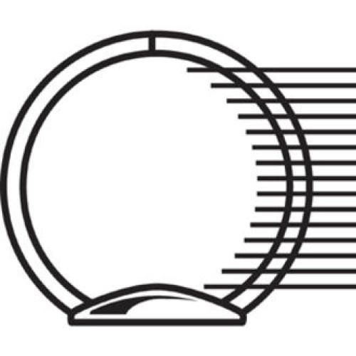 Samsill Economy 2-Pocket Round Ring View Binders (18399)