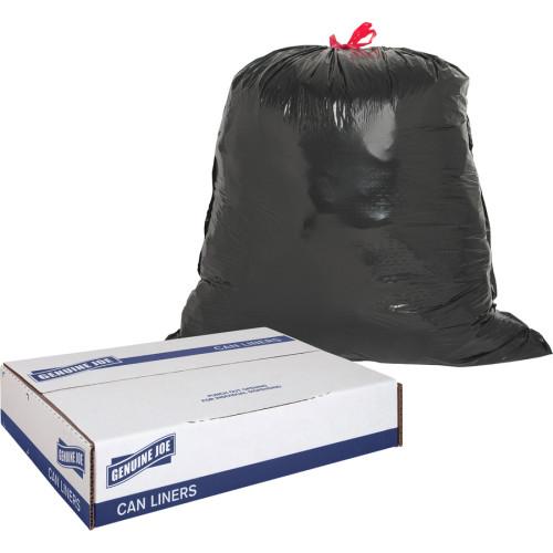 Genuine Joe Black Flex Drawstring Trash Liners (01230)
