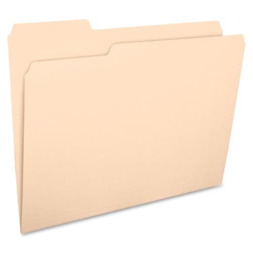 Business Source 1/3 Cut 1-ply Top Tab Manila Folders (17525)
