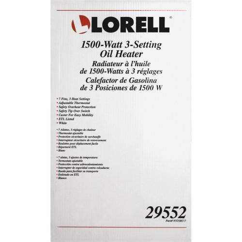 Lorell 1500 Watt 3-Setting Oil Filled Heater (29552)