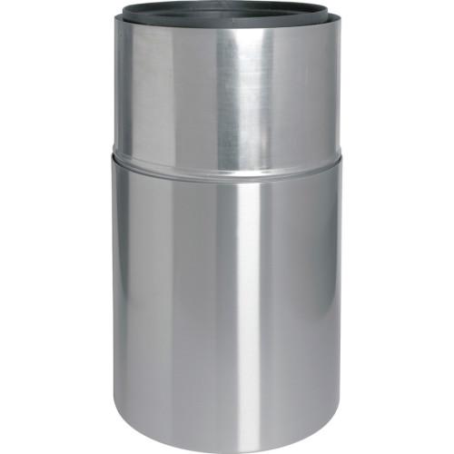 Genuine Joe Classic Cylinder 2-Piece Waste Receptacle (58893)