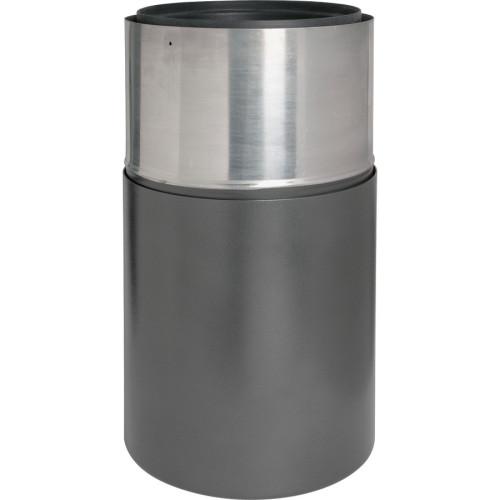 Genuine Joe Classic Cylinder Gray Waste Receptacle (58894)