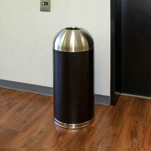 Genuine Joe 15 Gallon Dome Top Trash Receptacle (58896)