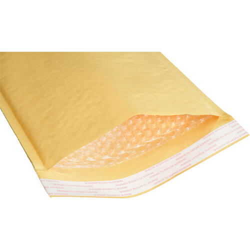 AbilityOne 8105001179886 Sealed Air Jiffylite Cushioned Mailer, #7, Bubble Lining, Self-Adhesive Closure, 14.5 x 20, Golden Kraft, 50/BX