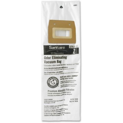 Sanitaire Style Z Vacuum Bags, 5/Pack (63881A10)