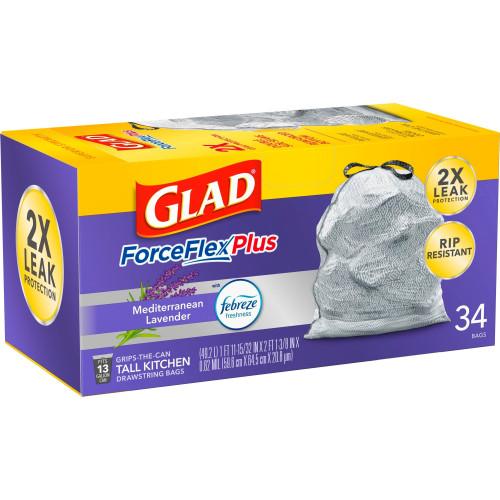 Glad ForceFlex OdorShield Tall Kitchen Drawstring Trash Bags (78531)