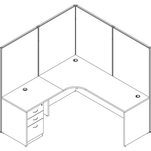 Lorell Straight Panel Connectors (90259)