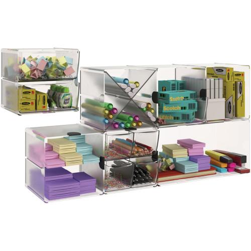 Deflecto Stackable Cube Organizer (350801)