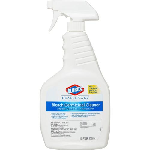 Clorox Bleach Germicidal Cleaner, 22  oz Spray Bottle, 8/Carton (68967CT)
