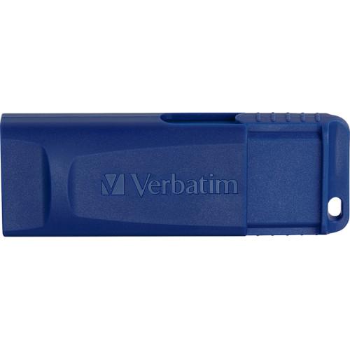 Verbatim Classic USB 2.0 Flash Drive, 8 GB, Blue, 5/Pack (99121)