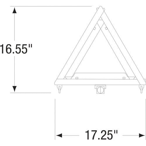 Deflecto Early Warning Triangle Kit (73071100)