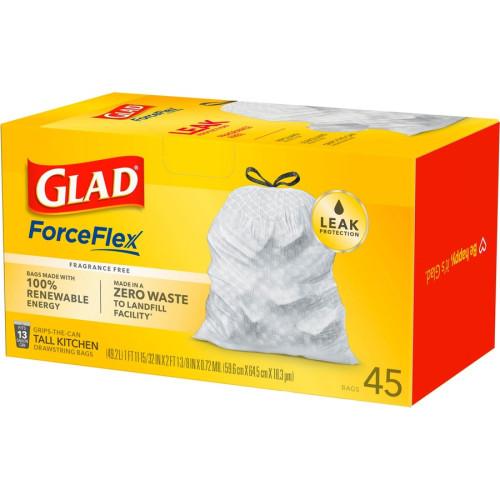 Glad ForceFlex Tall Kitchen Drawstring Trash Bags (78362)