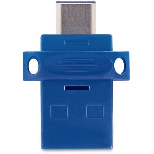 Verbatim 16GB Store 'n' Go Dual USB 3.0 Flash Drive for USB-C Devices - Blue (99153)